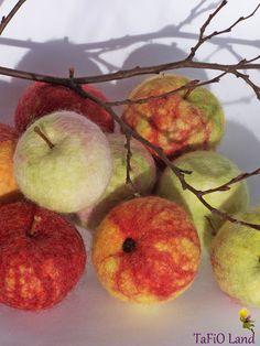 Apfel gefilzt von TaFiO Land auf DaWanda.com