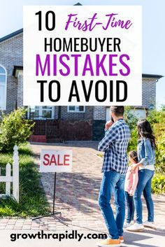 Are you a first time home owner? READ NOW to avoid these common mistakes. Find first time home buyer tips, first time home buyer checklist, first time home buyer programs, new homeowner, no down payment. #firsttimehomebuyer #homeowner #mortgage #loan #fin