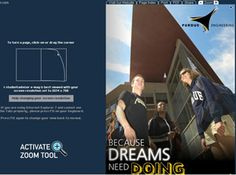 """This brochure for prospective students starts with the tag line """"Because Dreams Need Doing"""" on the cover and says """"engineers apply their creativity... and design solutions that make our lives better"""""""