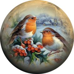 The world of craftsmanship by Lydia Kostina and not only .: Symbol of Christmas Snow Globes, Painted Christmas Ornaments, Christmas Scenes, Christmas Pictures, Christmas Art, Vintage Christmas, Illustration Noel, Illustrations, Christmas Paintings On Canvas