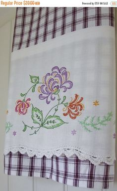 Ideas For Crochet Pillow Case Tea Towels Embroidery Transfers, Hand Embroidery Patterns, Vintage Embroidery, Machine Embroidery, Embroidery Designs, Crochet Patterns, Hungarian Embroidery, Fun Patterns, Crochet Edgings