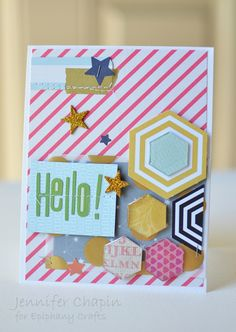 Card made with the #epiphanycrafts Shape Studio Tool Hexagon available at #archivers stores. www.epiphanycrafts.com #scrapbook #card
