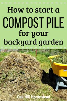 Put those weeds and grass clippings to work in a backyard compost pile to fill pots and raised beds and to feed your garden plants. How To Start Composting, Composting Methods, How To Make Compost, Garden Compost, Garden Soil, Garden Tips, Vegetable Garden, Garden Plants