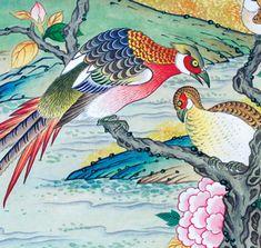 이문성 작가와 함께하는 궁중화조도 그리기 Ⅲ | 월간민화 Korean Painting, Chinese Painting, New Puzzle, Korean Art, Asian, Traditional, Colouring, Puzzles, Illustration