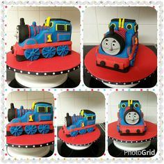 www.thepurplewhisk.co.uk A vanilla sponge, carved Thomas the Tank Engine cake. Loved making this.