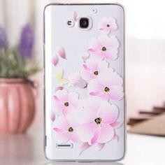 Llévalo por solo $14,400.La flor de mariposa del patrón Fabitoo PC transparente cubierta trasera para el Huawei Honor 3X.