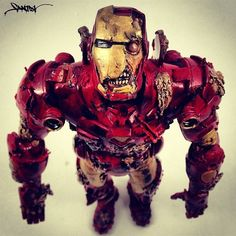 iron man would survive his armor can survive bombs and bullets i am certain it can survive some teeth and nails haha