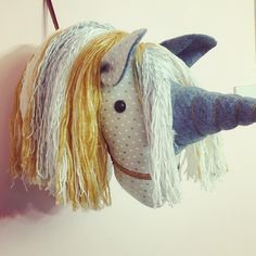 Unicorn wall mount .. faux taxidermy . available to order from Florence and the fox at Etsy