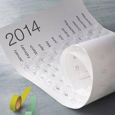 Me - 2014 bubble wrap calendar by incognito £25
