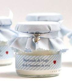 adornos para bautismo de varon frasco First Communion Favors, Baptism Favors, Baptism Party, Boy Baptism, Wedding Favours, Christening, Bussines Ideas, Baby Shawer, First Tooth