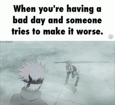 When you're having a bad day and haters come up on you... You just.... #kakashi #likeaboss #zabuza