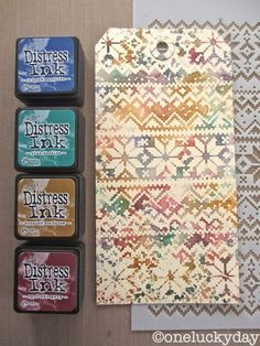 Great colors, great stencil! oneluckyday.com Simple Pleasures Rubber Stamps and Scrapbooking.