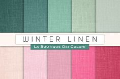 Winter Linen Digital Textures. Christmas Patterns. $3.00