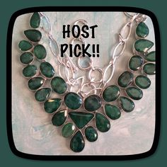 "🎀🎀STERLING SILVER 🎀SAKOTA MINES EMERALDS!!! INCREDIBLE SAKOTA MINES EMERALDS 18"" long Handmade and set in Sterling SILVER THIS PIECE IS HUGE!! Deep Rich Green Color 🎉🎉🍾HOLIDAY STYLE HOST PICK 11/12/16🎉🎉🍾💥 Handmade Jewelry Necklaces"