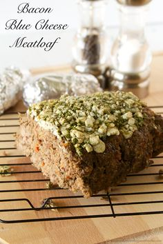 Need some down-home-comfort-food? Bacon Blue Cheese Meatloaf will hit the spot! by www.whatscookingwithruthie.com #recipes #beef