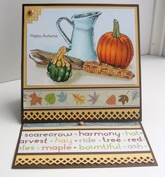 Fall Still Life card sample using Paper garden projects' digital stamp. Lovely!