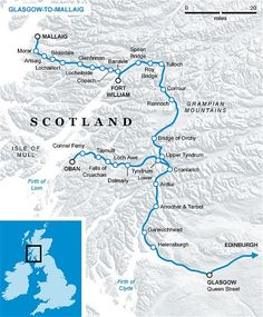 One of the most scenic rail journeys in the world from Glasgow to Mallaig.