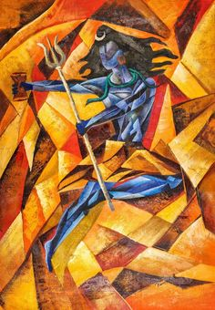 Buy painting online in India. 100% Handpainted Musuem Quality Art, Quick delivery and hundreds of framing options. - Abstract Shiva online on Fizdi.com.SKU: ACHVEN06_2436,Shades:Yellow, Brown Paintings,Category:By Sizes-Vertical-24in X 36in;By Delivery Time-2 to 5 Days;By Medium & Surface-Medium-Acrylic Colors;By Medium & Surface-Surface-Rolled Canvas;By Subject-Religious Paintings;By Subject-Other Subjects-Shiva Paintings;;By Shades-Yellow, Brown Paintings;Full Collection;,Artist:Community…