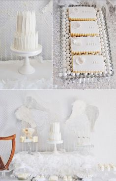Angel themed baby shower with a lot of beautiful ideas via Kara's Party Ideas KarasPartyIdeas.com #angelparty #angelbabyshower #partyideas #angelpartyideas