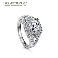 Neoglory Cubic Zirconia Engegement Romantic Rings for Women Fashion Jewelry 2017 New QC Wedj Wedj-r Elegant Engagement Rings, Wedding Engagement, Fashion Rings, Fashion Jewelry, Wedding Rings For Women, Band Rings, Heart Ring, Jewelry Accessories, Romantic