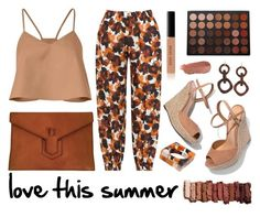 """""""Love this summer"""" by yutsu ❤ liked on Polyvore featuring TIBI, Isolde Roth, Schutz, Yves Saint Laurent, NEST Jewelry, Morphe, Bobbi Brown Cosmetics, Kjaer Weis and Urban Decay"""