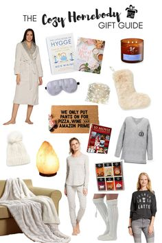 faux fur collar robe | Hygge book |  year of cozy book | lavender & vanilla candle | faux fur stocking | twinkling fairy lights | e...