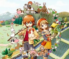 Something I dream about often: Harvest Moon, a Tale of Two Towns. Such a fun game!