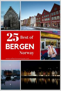 Bergen, Norway...the best place to spend a winter weekend. With its beautiful wooden downtown area, steaming up the windows with some hot coffee or hot chocolate, you can cozy up or venture out. The fjords are gorgeous, and the skiing and sledding is top notch. Head to Bergen this winter.  #Bergen #winter #Norway #fjordtour #floyen #funicular #Sledding #skiing #hotel #restaurant