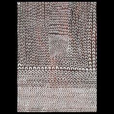 Lena Nyadbi, Barramundi Dreaming, natural ochres in synthetic polymer base on canvas, 90 x 120 cm.