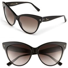 Women's Dior 'Mohotani' 58mm Cat Eye Sunglasses (995 BRL) ❤ liked on Polyvore featuring accessories, eyewear, sunglasses, glasses, dior, black, retro sunglasses, cat-eye glasses, christian dior eyewear and cateye sunglasses