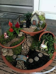If you are looking for Indoor Fairy Garden Ideas, You come to the right place. Here are the Indoor Fairy Garden Ideas. This article about Indoor Fairy Garden Ide. Fairy Garden Pots, Indoor Fairy Gardens, Fairy Garden Houses, Gnome Garden, Miniature Fairy Gardens, Fairy Gardening, Container Fairy Garden, Gardening Tips, Broken Pot Garden
