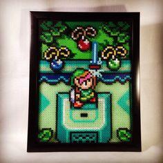 Link to the Past Perler pixel art by KurisutaCreations