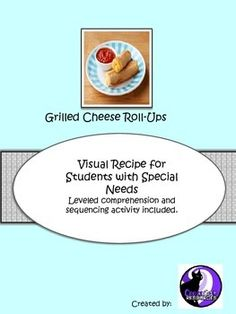 FREEBIE!  This unit contains 1 visual recipe, 2 differentiated worksheets and 1 sequencing activity. Great way to practice expressive and receptive language.