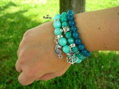 Turquoise Bracelet, Dangles, Beaded Bracelets, Fitness, Jewelry, Fashion, Moda, Jewlery, Jewerly