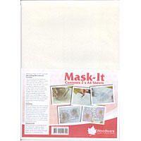 Woodware - MASK-IT - speciální papír na razítkovací techniky - 2 ks - A4 Speciální lepící papír vhodný na různé razítkovací techniky. Postup narazítkujete motiv na papír vystřihnete odlepíte ochrannou