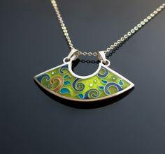 Fantasia cloisonne enamel necklace by agoraart <3