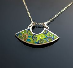 Fantasia cloisonne enamel necklace by agoraart <3