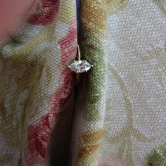 FIERY STUNNING MARQUISE Diamond Engagement Ring with 14k Yellow Gold-.43ct. $899.99, via Etsy.