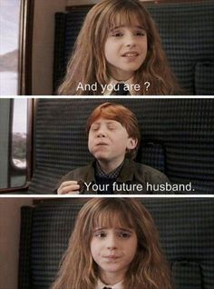 My favourite character is Hermione but I wouldn't want to be married to Ron