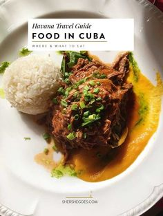 Curious about Cuban Food? Click through to learn about the difference between restaurants and paladars, typical cuban foods and more.: