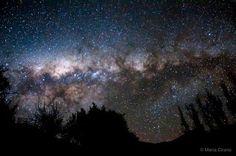 The Milky Way above Alcohuaz, Valle del Elqui, Chile.