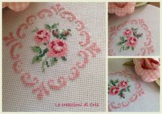 This Pin was discovered by Rab Hand Embroidery Videos, Hand Embroidery Patterns, Ribbon Embroidery, Cross Stitch Embroidery, Cross Stitch Rose, Cross Stitch Flowers, Cross Stitch Designs, Cross Stitch Patterns, Pinterest Cross Stitch