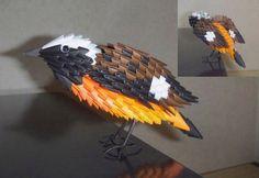 3D Origami - Redstart Bird