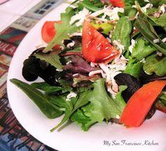 Healthy, low fat Italian balsamic salad
