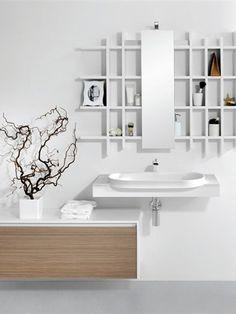Washbasin top METROPOLIS 6 by LASA IDEA | Shelves