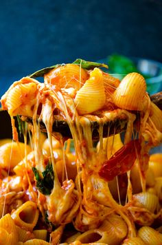 Stove top Creamy Caprese Pasta loaded with tomato and cheese flavors. No cream is used in this recipe. Creaminess is coming from milk and lots of cheese. This will become your family's favorite pasta dish! | giverecipe.com | #pasta #mozzarella #cheesypasta #pastarecipes #vegetarian