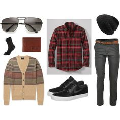 """""""Men in Fall"""" by zerouv on Polyvore: MODERN MENS GQ FASHION LARGE SQUARE METAL FRAME AVIATOR SUNGLASSES 8988"""