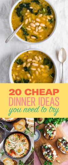 20 Dinner Ideas If You're On A Budget more at my site You-be-fit.com