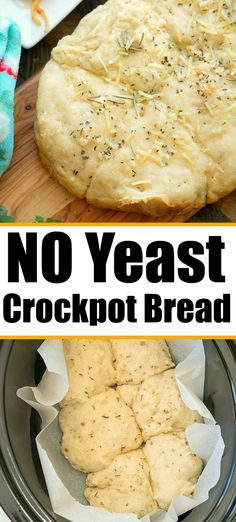 Crockpot no yeast bread or rolls you can make in a pinch. Sprinkle with parmesan cheese and garlic for a great side dish. and Drink crock pot crockpot meals Crockpot No Yeast Bread Crock Pot Recipes, Crock Pot Brot, Slow Cooker Recipes, Cooking Recipes, Cooking Tips, Vegan Recipes, Slow Cooker Bread, Crock Pot Slow Cooker, Crock Pot Cooking