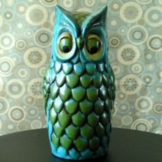 Vintage Ceramic Owl Hairspray Cover by joann